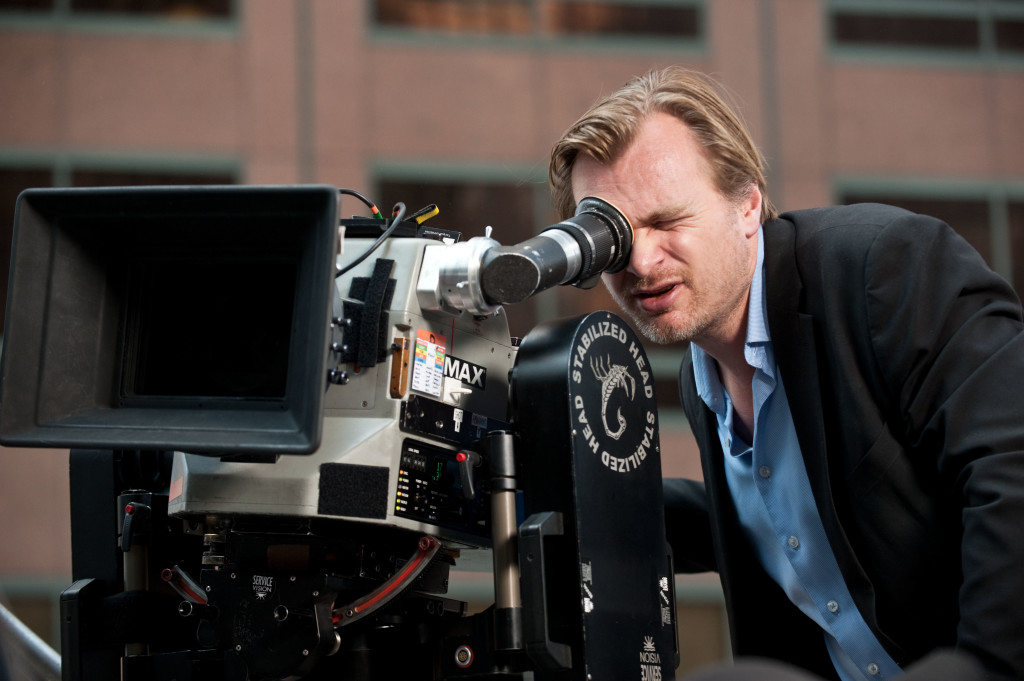 looking into camera chris nolan